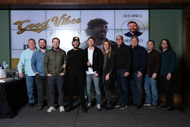 "CHRIS JANSON CELEBRATES THIRD CHART-TOPPING SINGLE ""GOOD VIBES"" AT FIRST NO. 1 PARTY OF THE DECADE"