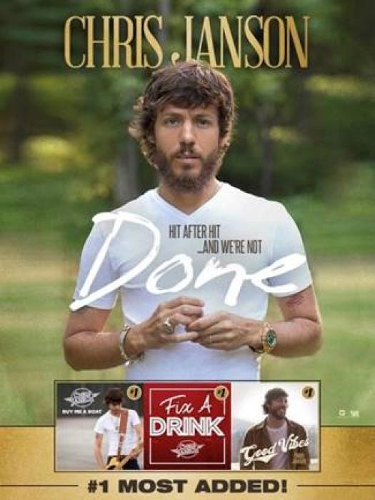 "CHRIS JANSON HAS ""DONE"" IT AGAIN AS NEW SINGLE IS MOST-ADDED AT COUNTRY RADIO THIS WEEK"